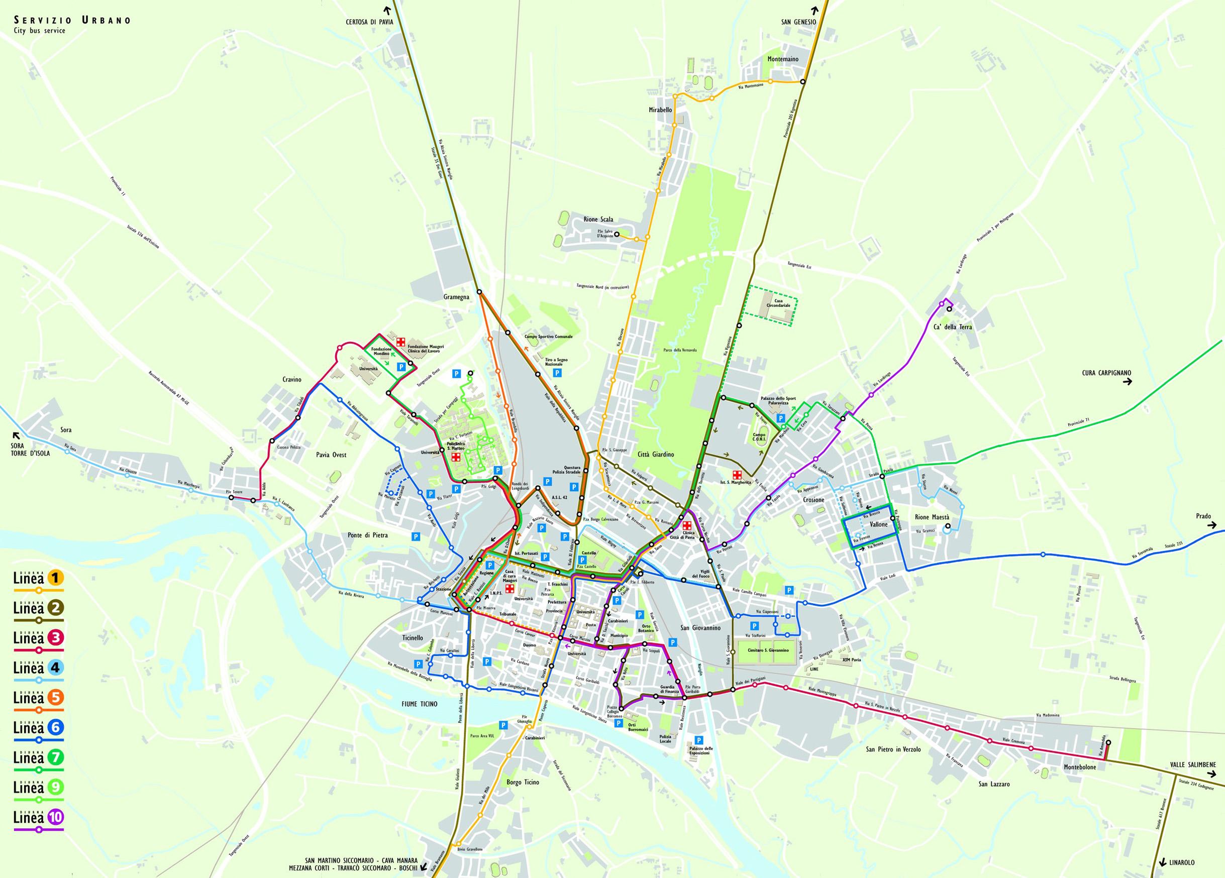 trasporti città di pavia