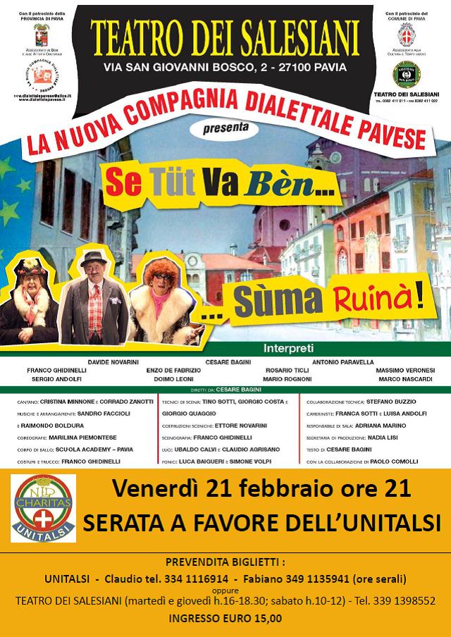 UNITALSI SPETTACOLO TEATRALE Compagnia Dialettale Pavese Teatro Salesiani