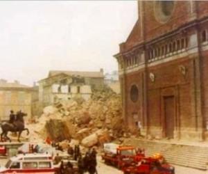 Macerie della Torre civica di Pavia