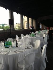 pavia palio del ticino cena ponte tavoli