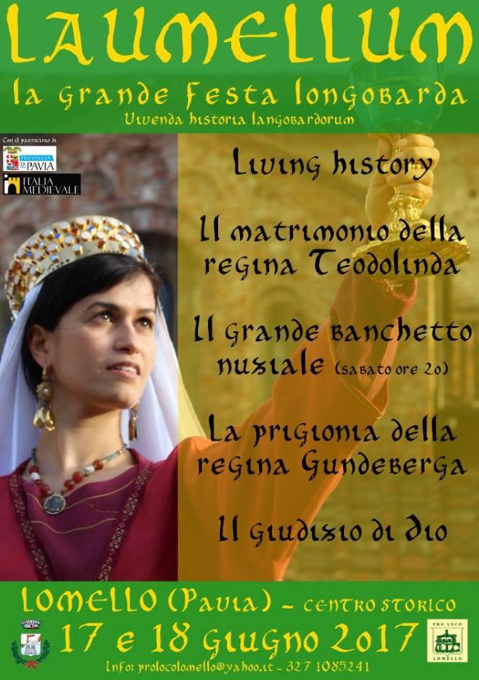 LOMELLO – Pavia La grande festa Longobarda per le nozze di Teodolinda 2017