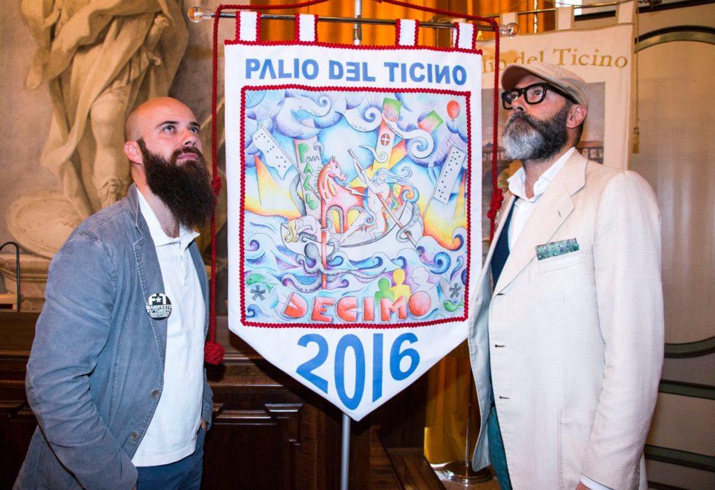 Drappo Palio del Ticino 2016 FUTURISTA