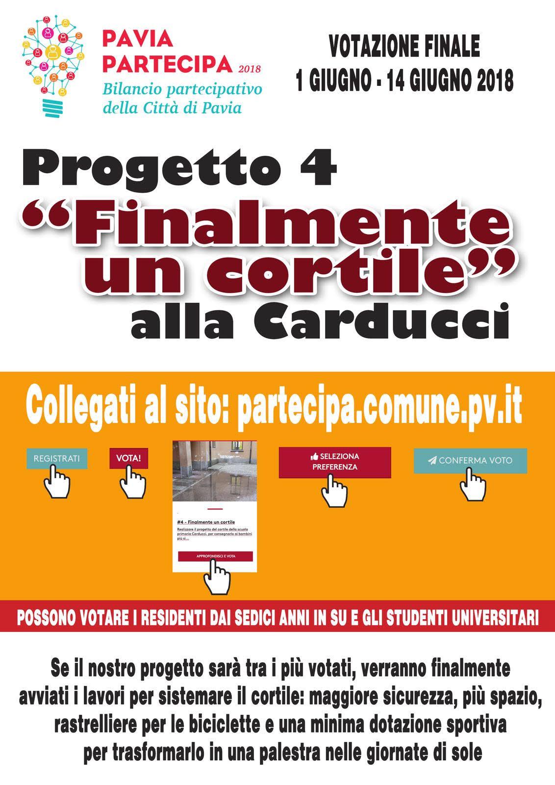 BILANCIO PARTECIPATIVO PAVIA progetto 4 Cortile Scuola Carducci