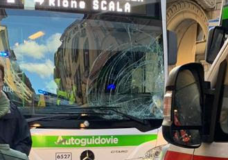 Incidente Bici Autobus in Strada Nuova a Pavia