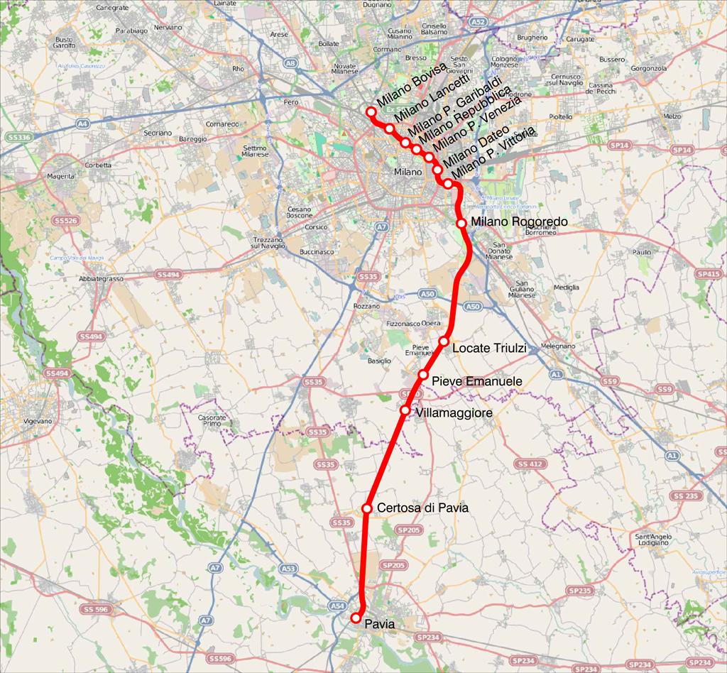Trasporti Pavia: potenziamento linea S13 PAVIA PIEVE EMANUELE PAVIA